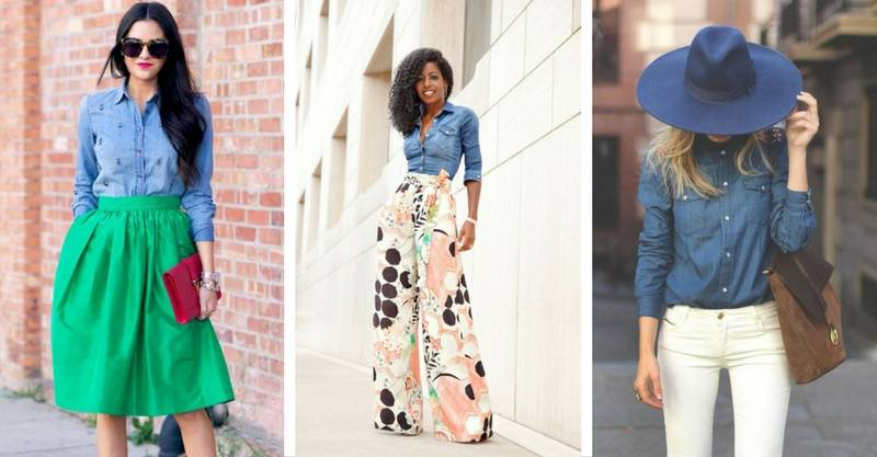 20 great ways a denim shirt can completely transform your style game