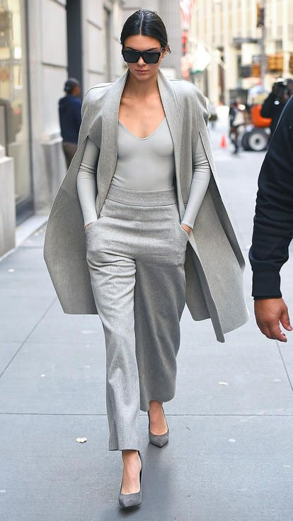 all grey kendall jenner outfit