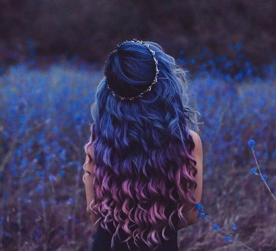 amazing blue and purple hairstyle