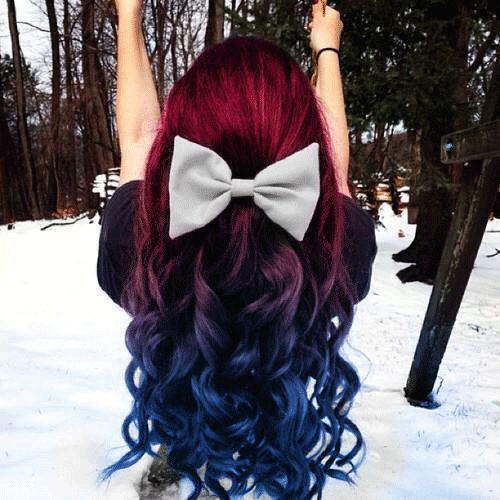 beautiful winter ombre hairstyle