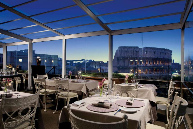best rooftop restaurants in the world aroma rome