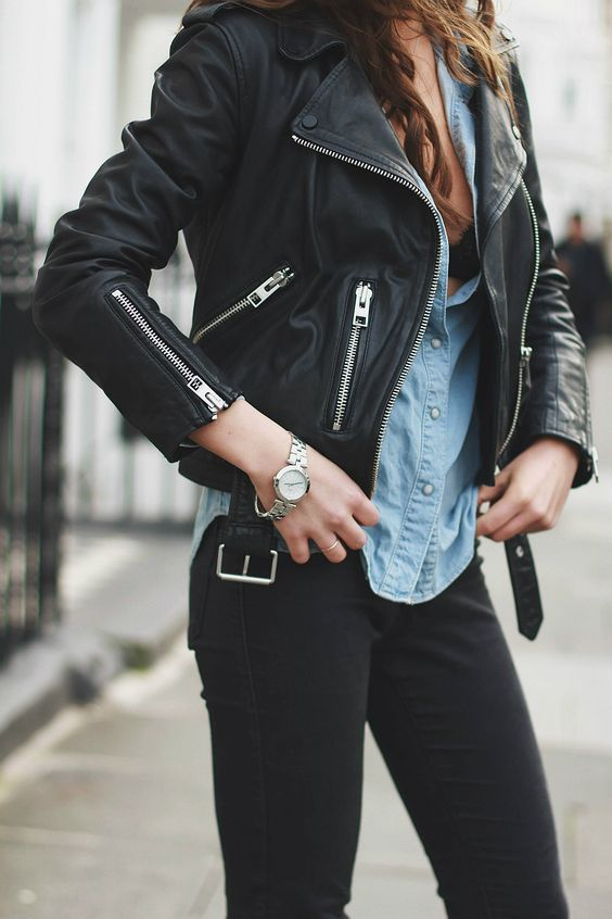 black leather jacket style essential
