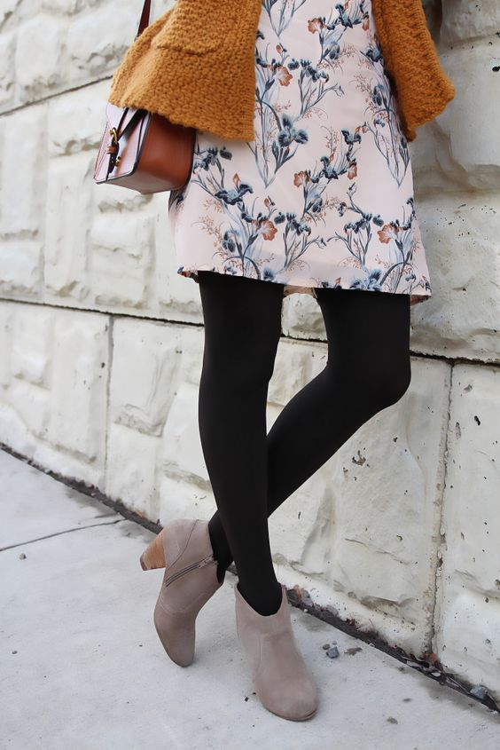 black opaque tights style essential