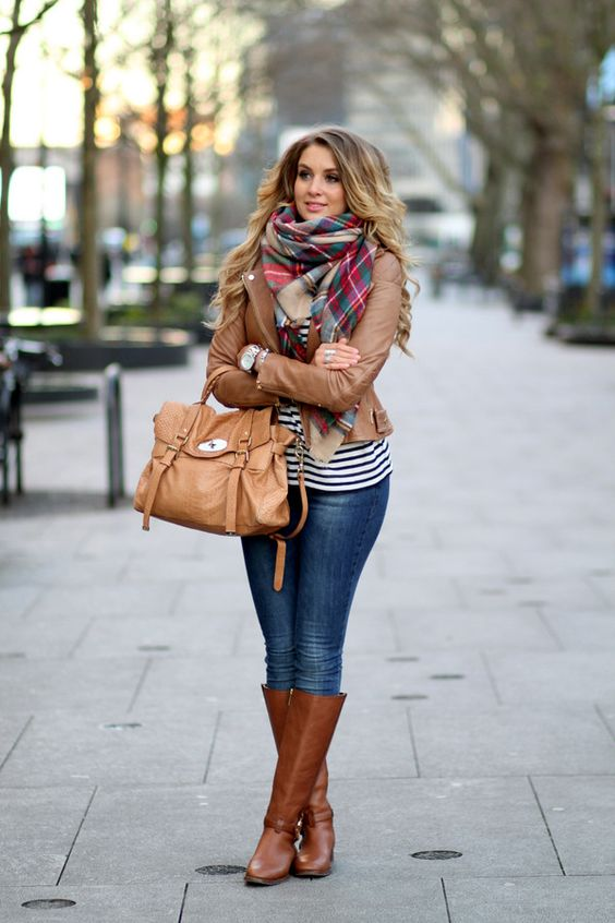 brown leather boots style essential