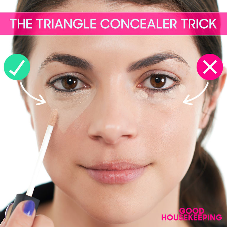 concealer triangle beauty tip