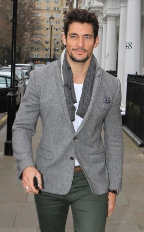 David Gandy Grey Sports Jacket #fashion #jacket #trendypins