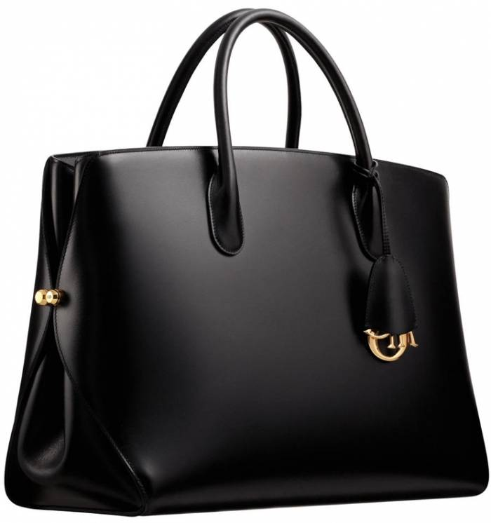 dior classic black leather bag