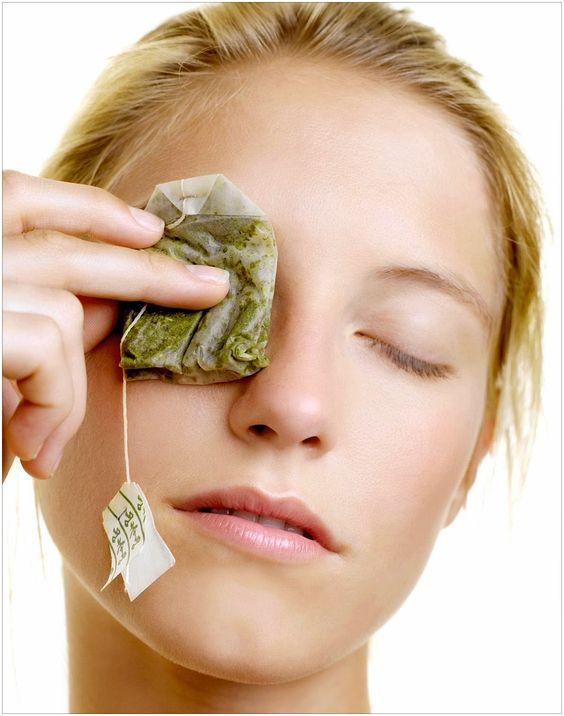 green tea bags for puffiness