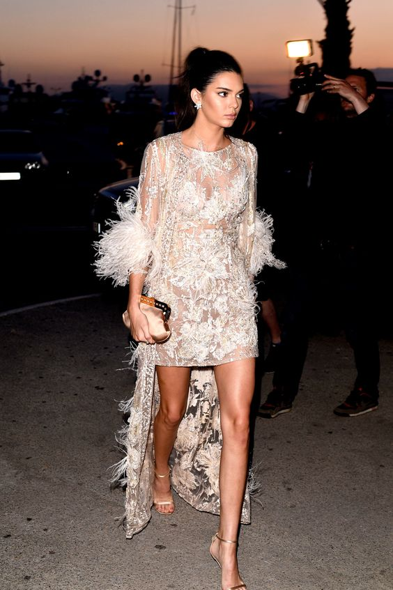 kendall jenner in elie saab dress
