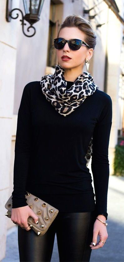 leopard print scarf style essential