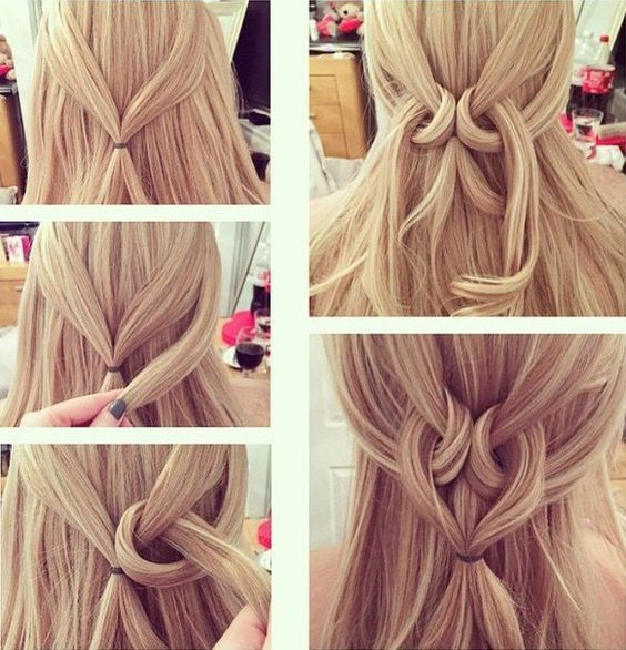 lovely heart shape hairstyle