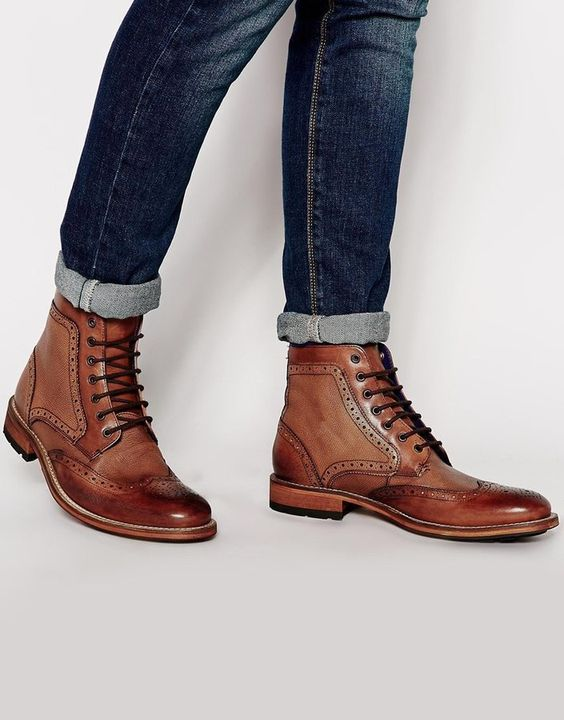Man Brown Brogues #fashion #boots #trendypins