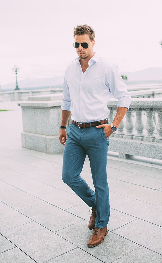 Man Crisp White Shirt #fashion #shirt #trendypins