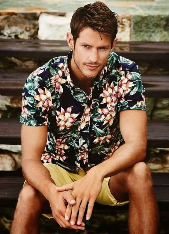Man Floral Printed Shirt #fashion #printed shirt #trendypins