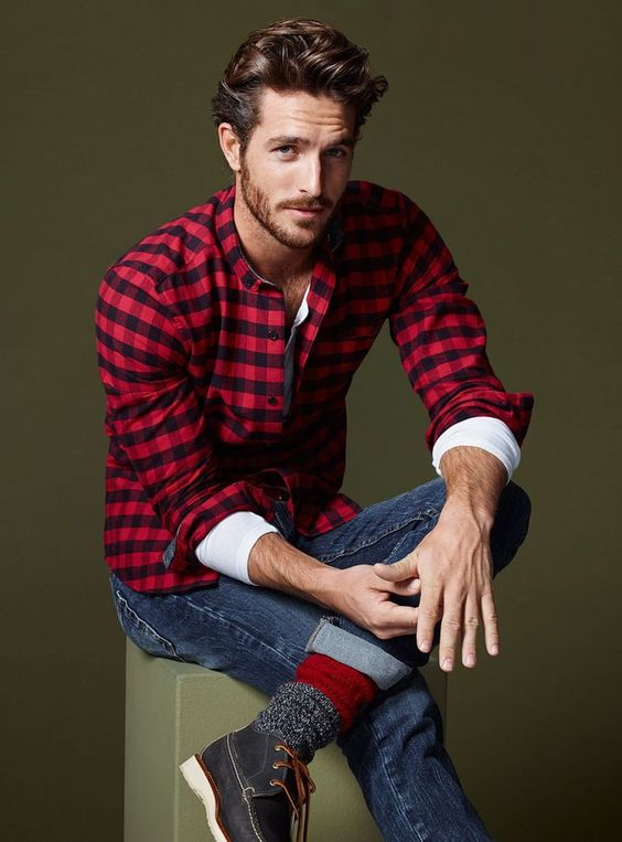 Man Plaid Shirt #fashion #plaid shirt #trendypins