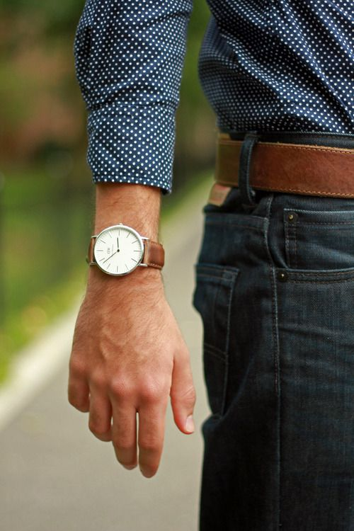 Man Tan Colored Watch #fashion #watch #trendypins