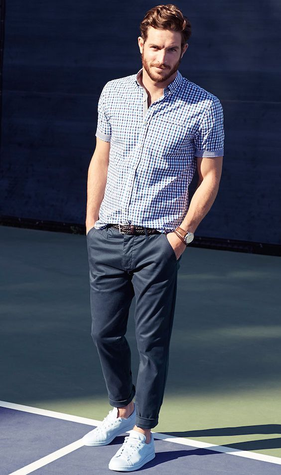 man white sneakers outfit idea #fashion #sneakers #trendypins
