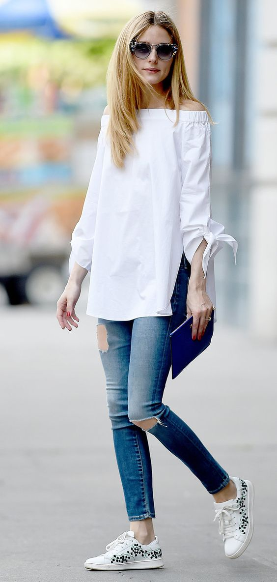 olivia palermo casual jeans outfit