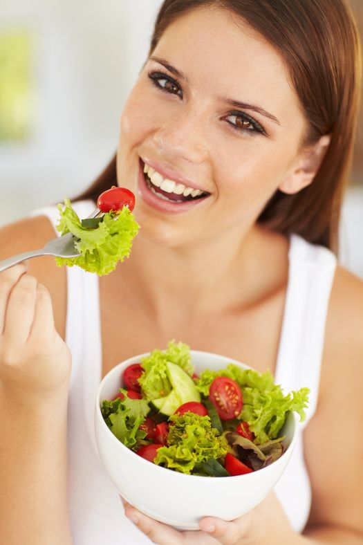 salad with iodized salt for boosted metabolism