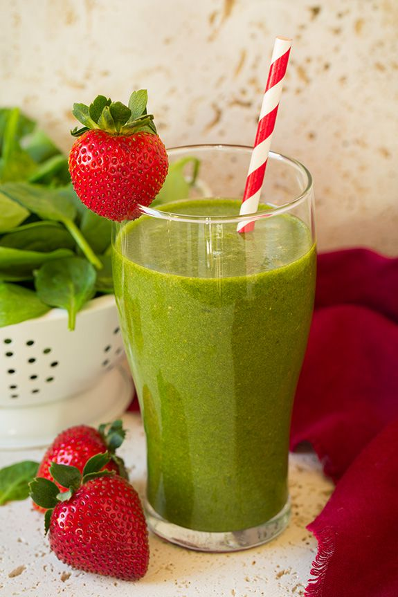 strawberry spinach breakfast smoothie #healthy living #healthy food #beauty #trendypins
