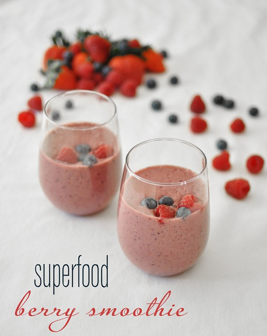 super food berry smoothie for breakfast #healthy living #healthy food #beauty #trendypins