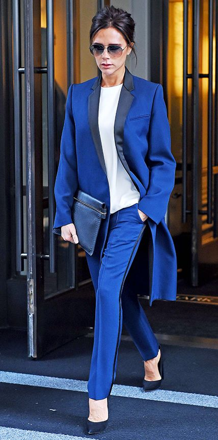 victoria beckham beautiful business style suit look