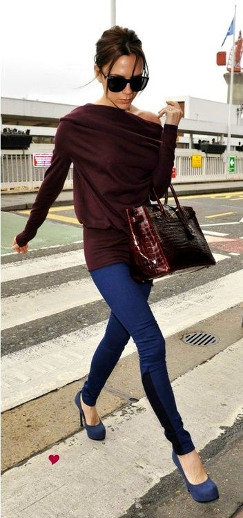 victoria beckham great casual style look