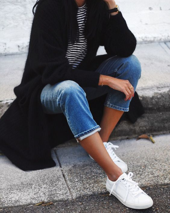 white sneakers style essential