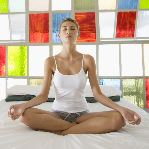 yoga poses in bed morning routine for healthy life