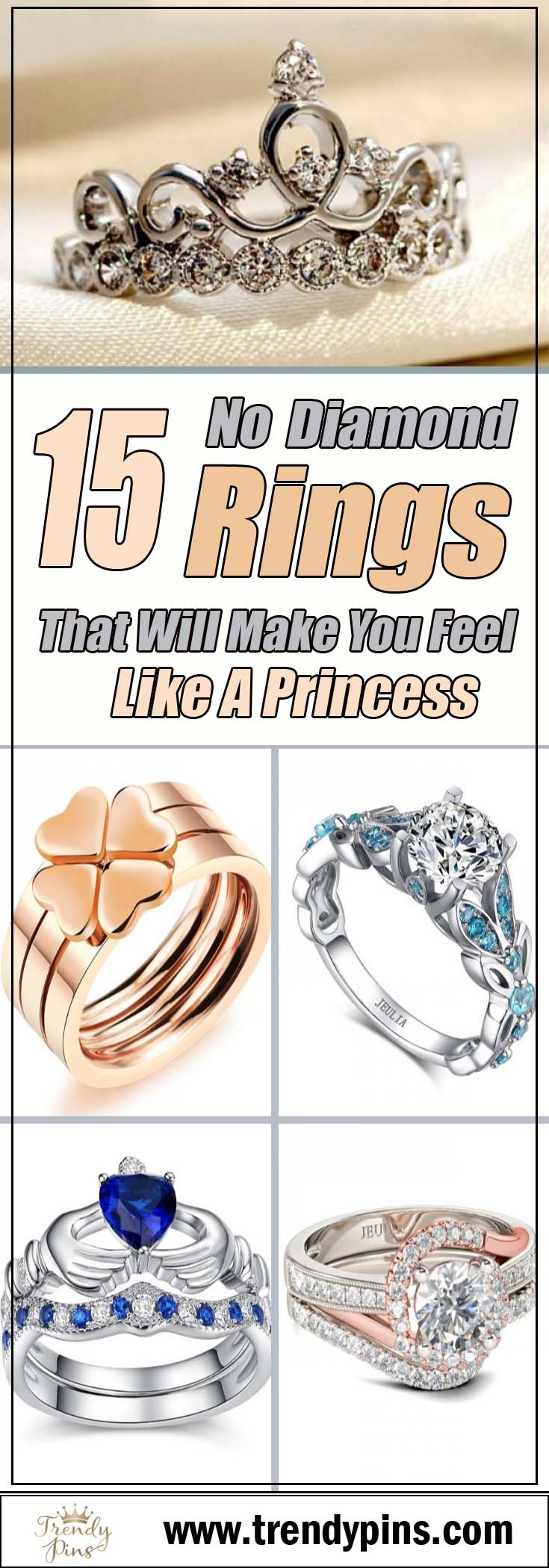 15 no diamond rings that will make you feel like a princess