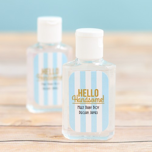 Personalized Baby Shower Hand Sanitizer for boys
