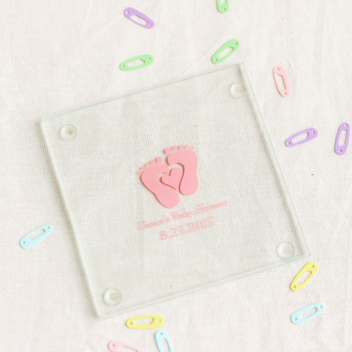 Personalized Glass Coasters for girls