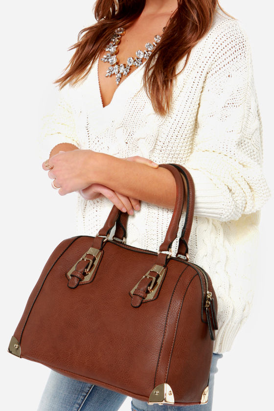 Brown leather bowler bag #purses #fashion #trendypins