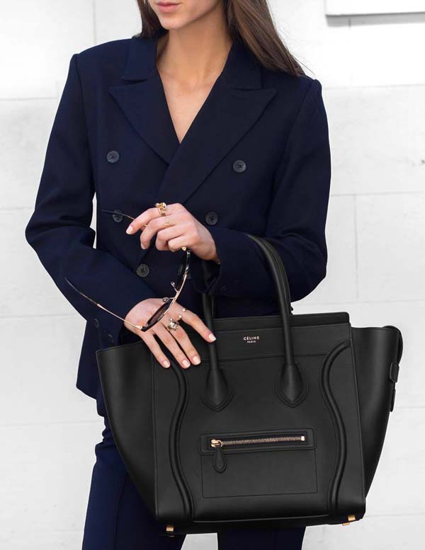 Chic tote black leather #purses #fashion #trendypins