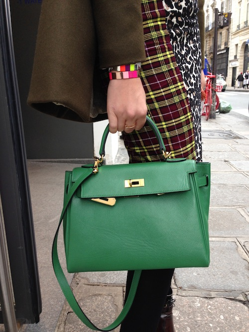 Green leather Kelly bag #purses #fashion #trendypins