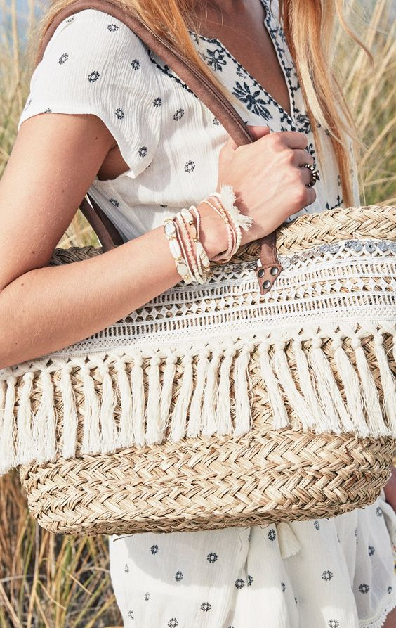 Straw basket #purses #fashion #trendypins