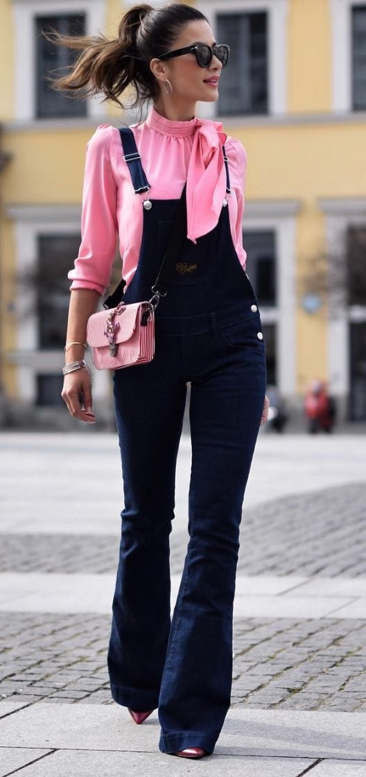 Overall dark blue #overall #pants #fashion #trendypins