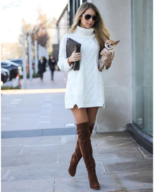 Sweater dress #dresses #fashion #trendypins