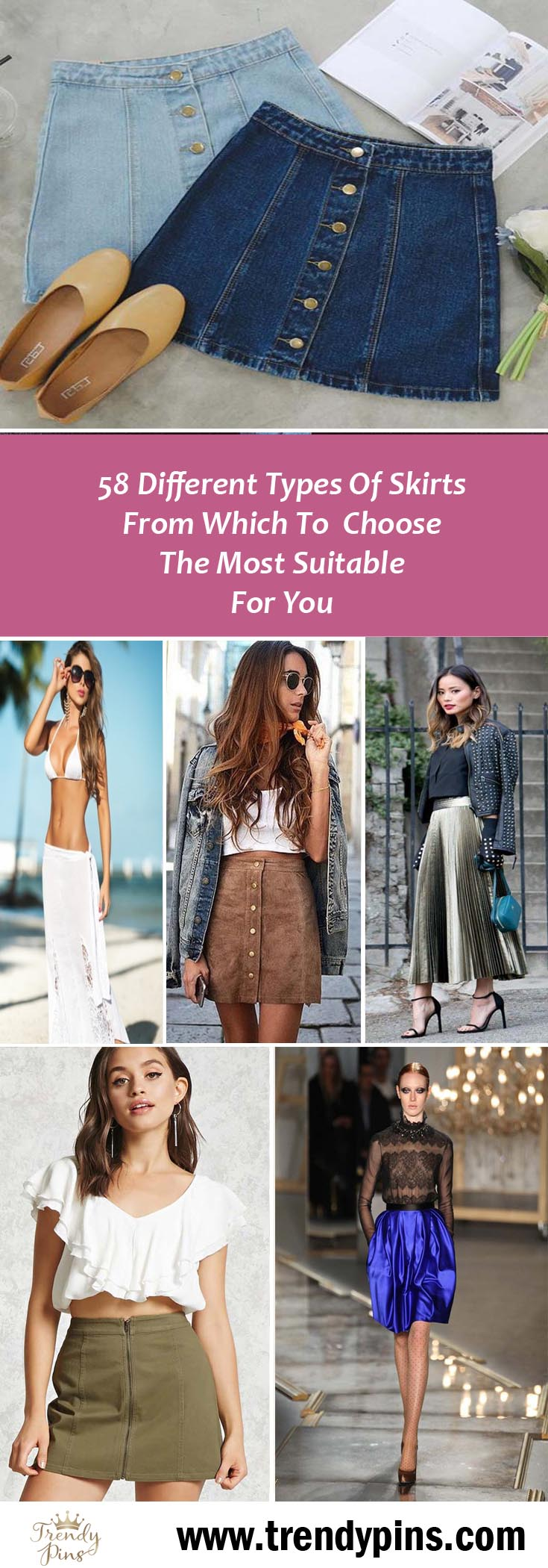 58 Different Types Of Skirts To Choose The Most Suitable For You