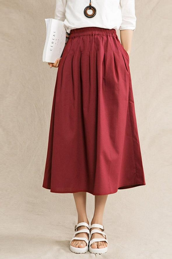 Cotton Silhouette #skirt #fashion #trendypins