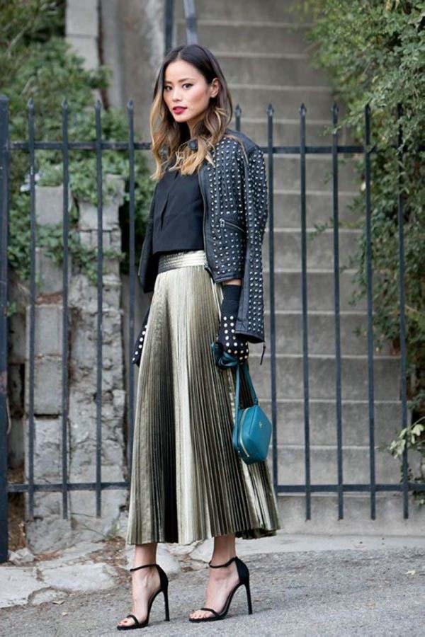 Stylish fall outfits with cullotes #skirt #fashion #trendypins