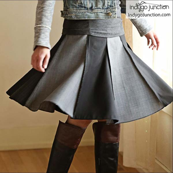 Modern Gored Skirt Pattern #skirt #fashion #trendypins