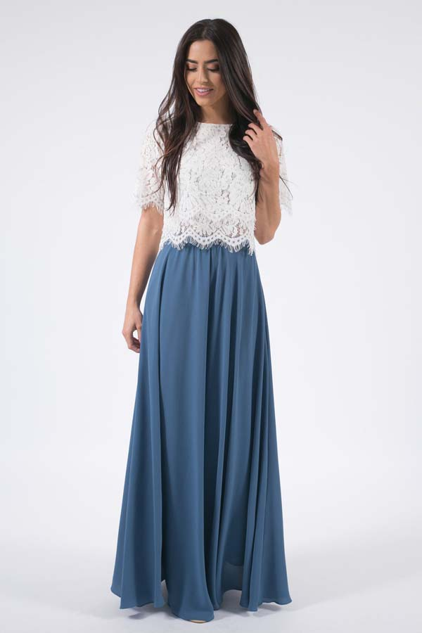 Blue Full Maxi Skirt #skirt #fashion #trendypins