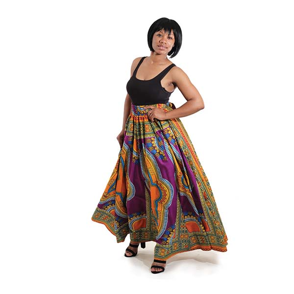 Traditional Print Paneled Skirt #skirt #fashion #trendypins