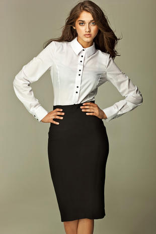 Black Tea-Length Pencil Skirt #skirt #fashion #trendypins