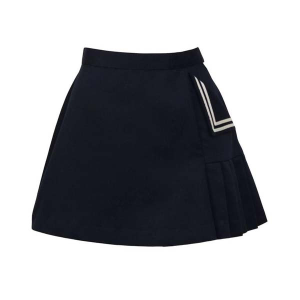 Navy Poly-Cotton Tennis Skirt #skirt #fashion #trendypins