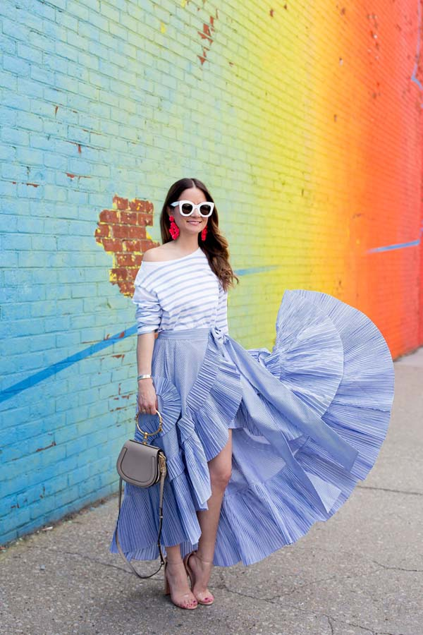 Stripe Ruffle Skirt #skirt #fashion #trendypins