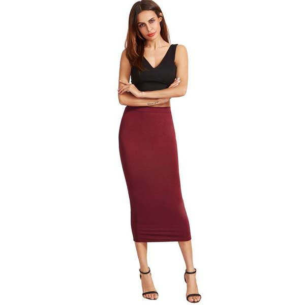 High Waist Sheath Skirt #skirt #fashion #trendypins