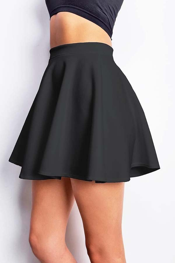 Black Mini Skater Skirt #skirt #fashion #trendypins