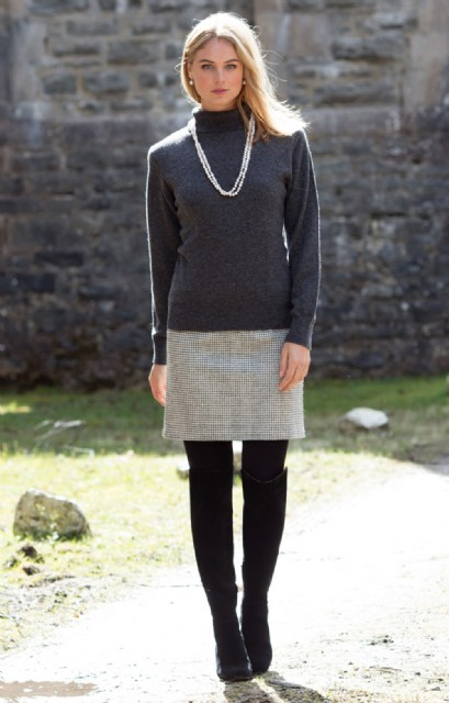 Puppytooth Straight Skirt #skirt #fashion #trendypins